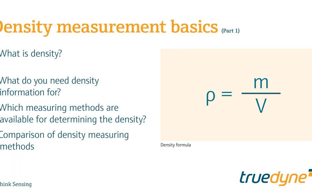 Part 1 – Density measurement basics