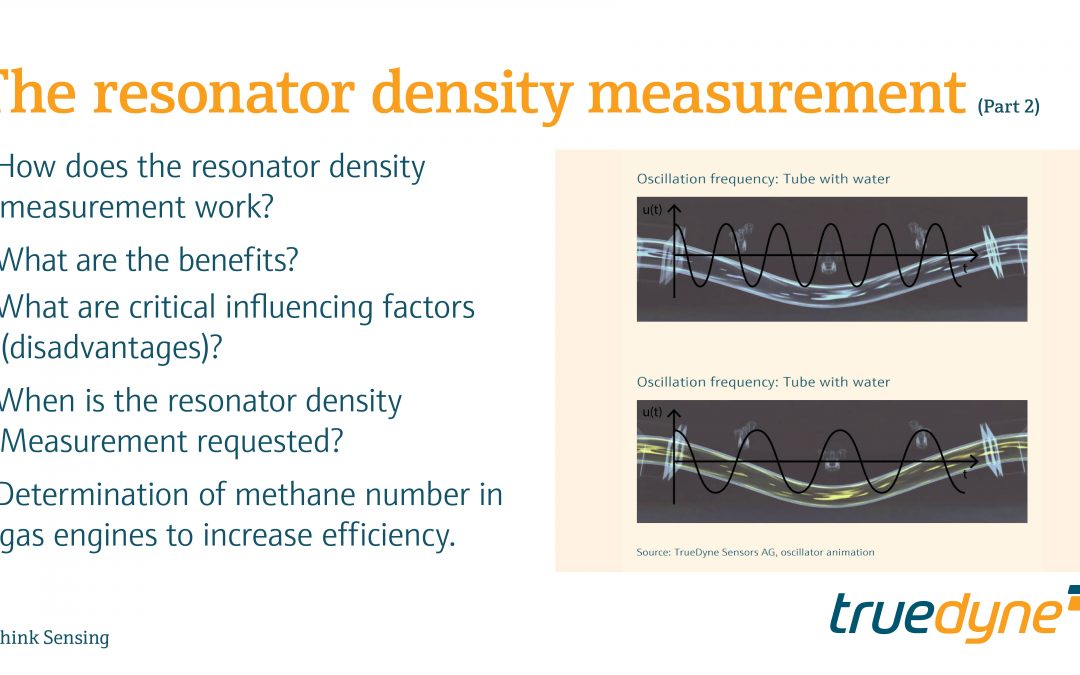 Part 2 – The resonator density measurement